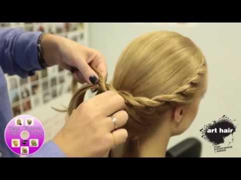 Вечерняя прическа на средние волосы → Видео-урок