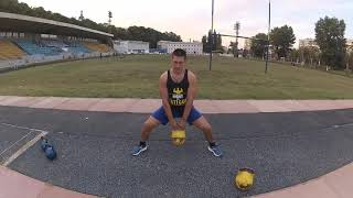 Упражнения с гирями для мышц ног. Комплекс 2