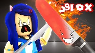 1000 DEGREE GLOWING KNIFE CHALLENGE IN ROBLOX vs. ITSFUNNEH!