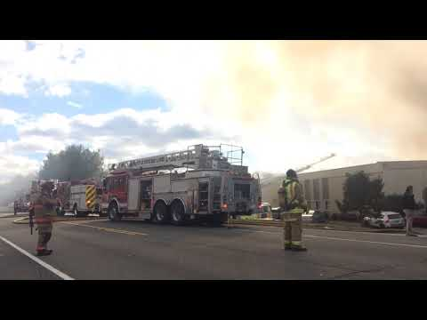 Chemical factory on fire in New Windsor