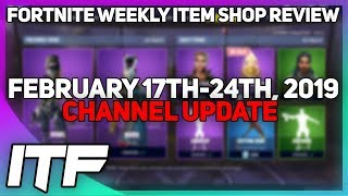 Fortnite Weekly Item Shop Review + Announcement [February 17th-24th, 2019] (Fortnite Battle Royale)