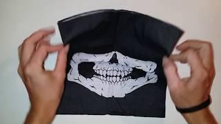 Маска череп или балаклава на пол лица. Video