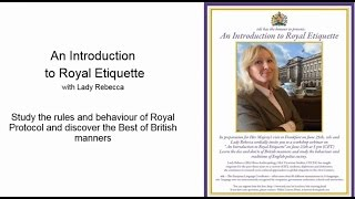 An introduction to royal etiquette