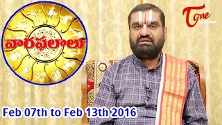 Vaara Phalalu | Feb 07th to Feb 13th 2016 | Weekly Predictions 2016 Feb 07th to Feb 13th