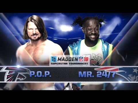 SMACKDOWN FINALS: AJ STYLES vs. KOFI KINGSTON - Madden 18 Superstar Tournament - Gamer Gauntlet
