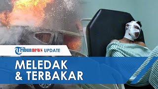 Isi Bensin Sambil Ngecas HP dan Main Game, Mobil Sigra Meledak dan Terbakar di SPBU di Belitung