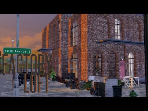 THE SIMS 4 : SPEEDBUILD | FACTORY LOFT 🏭 | DL + CC