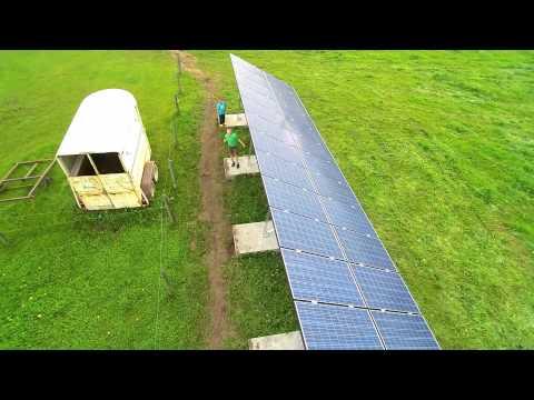 12.2kW Solar System l Alberta Pork Farm