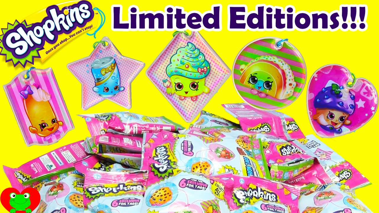 Shopkins Fashion Tags With Exclusive Limited Edition Foil