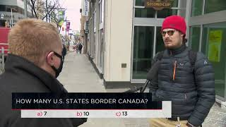 How many U.S. states border Canada? | Outburst