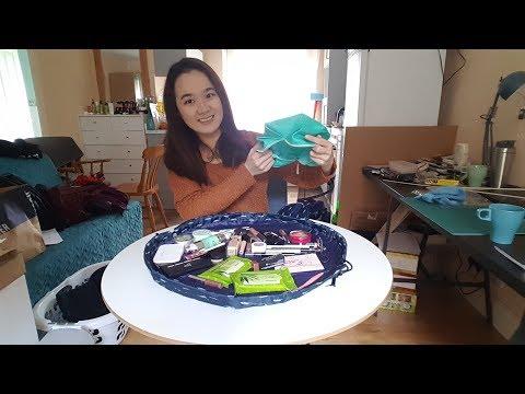 Drawstring cosmetic bag tutorial