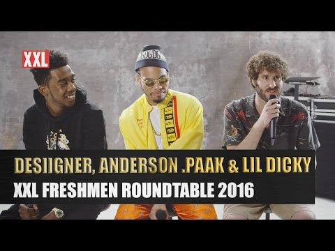 Desiigner, Lil Dicky & Anderson .Paak's 2016 XXL Freshmen Roundtable Interview