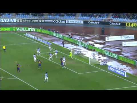 Real Sociedad vs FC Barcelona [Amplio Resumen][1-0][04-01-2015] All Goals Highlights