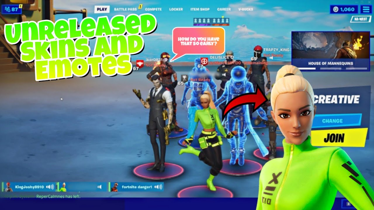 Download Players React to Unreleased Emotes in Fortnite