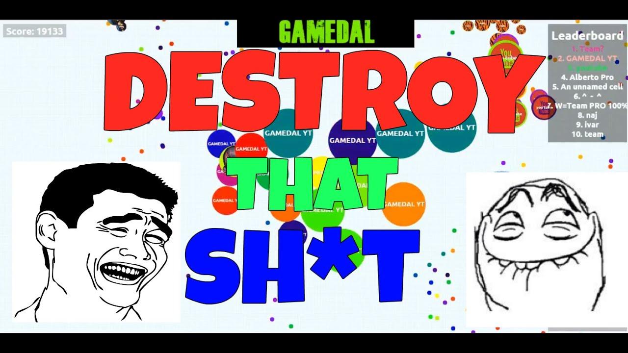 Agariofr agar.io - lets destroy that team | agariofr | - youtube