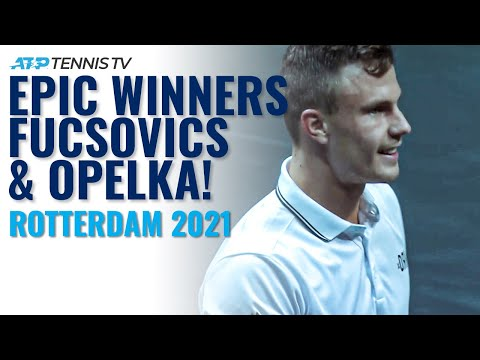 Incredible Passing Shot Winners From Fucsovics & Opelka! | Rotterdam 2021 #Shorts