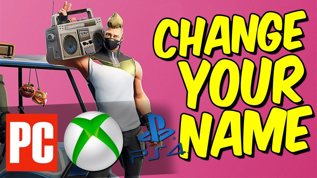 HOW TO CHANGE YOUR FORTNITE NAME in Season 9 (How to ...