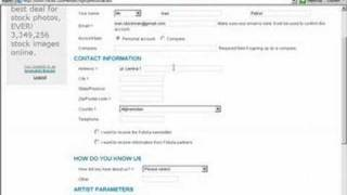 How registration in Fotolia