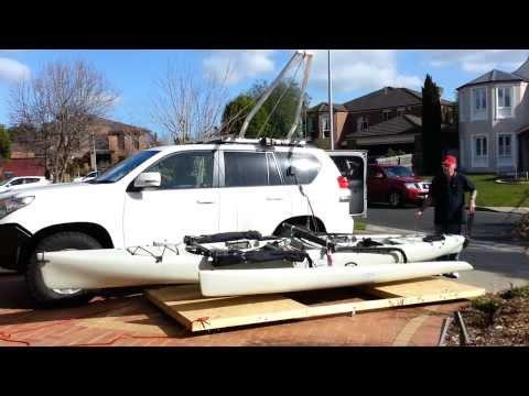 Kayak Hobie Tandem Island Hoist Car Roof To Garage Ce
