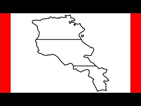 How To Draw Armenia Map - Step By Step Drawing