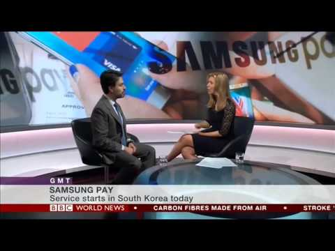 Samsung Pay: Enrique Velasco-Castillo talks to BBC World News about the launch of Samsung Pay