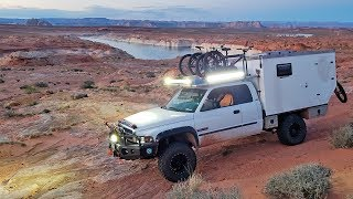 EP:08 THE MOST EPIC LAKE POWELL ANTELOPE CANYON CAMP SPOT - FULL TIME TRUCK CAMPER