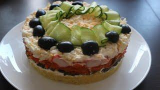 🥗БЕСПОДОБНО ВКУСНЫЙ САЛАТ НА ПРАЗДНИЧНЫЙ СТОЛ Delicious salad on the holiday table