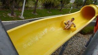 CoCo Key Water Resort - Surfer Splash | Yellow Tube Slide Onride POV