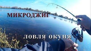 Ловля окуня на микроджиг в озере осенью
