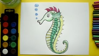 How to Draw a Seahorse
