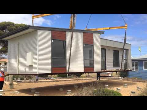 Systembuilt Homes – Moving our new modular Retreat home