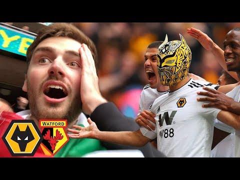 JIMENEZ WEARS SIN CARA MASK AT WEMBLEY! Wolves Vs Watford FA Cup Semi Final Vlog