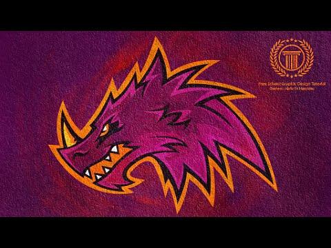 Adobe Illustrator / Sports Logo / E-Sports Team Logo / Dragon logo