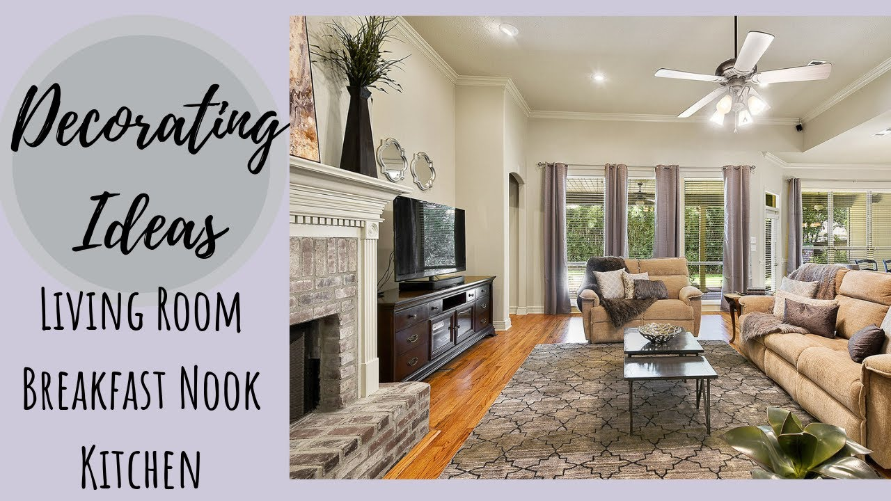 Decorating Ideas Living Room Breakfast Nook Glam Farmhouse Easy Makeover On A Budget Youtube