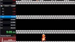 Super Mario Bros. Warpless in 19:12.20