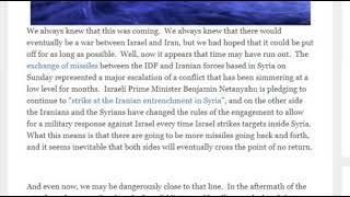 Syria is Threatening to bomb Tel Aviv -WW3 Coming - Edited