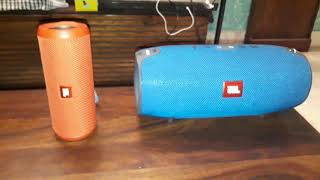 JBL Connect :-(JBL Xtreme plus JBL Flip 3) Party Mode Dual Audio Soundcheck !!!Harman Product
