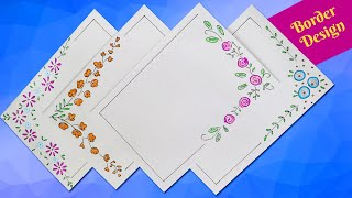 Very Easy Border Designs for Project || Simple Border Design for School project