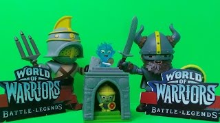 Mega World Of Warriors Battle Legends Toys Unboxing  Inc., GUNNAR and CRIXUS