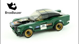 LEGO Speed Champions 75884 1968 Ford Mustang - Speed Build for Collecrors - Full Collection (15/39)
