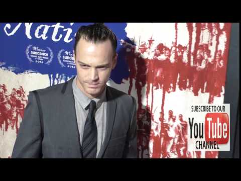 Dominic Bogart at the Premiere Of Fox Searchlight Pictures' The Birth Of A Nation at ArcLight Theatr