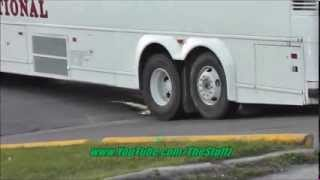 Charter bus stuck across Albert St, Regina Saskatchewan