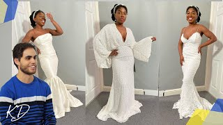 I Tried ASOS Wedding Dresses under £200 Will The Husband Approve? | Kim Dave
