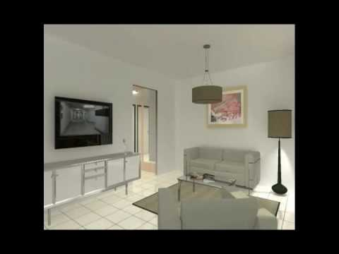 Visite virtuelle d 39 un appartement f3 dans la r sidence for F3 appartement