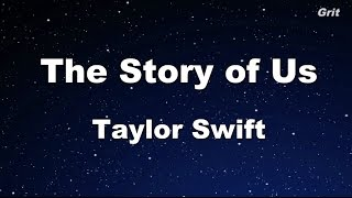 Repeat youtube video The Story of Us - Taylor Swift Karaoke【With Guide Melody】
