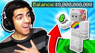 RICHEST PLAYER ON THE SERVER GAVE ME A GIFT! (Minecraft Skyblock)