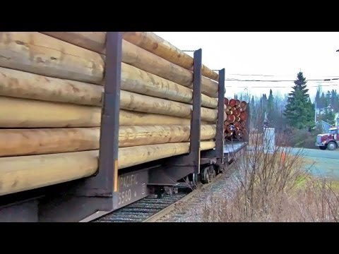 [HD] Ontario Northland Freight at Swastika