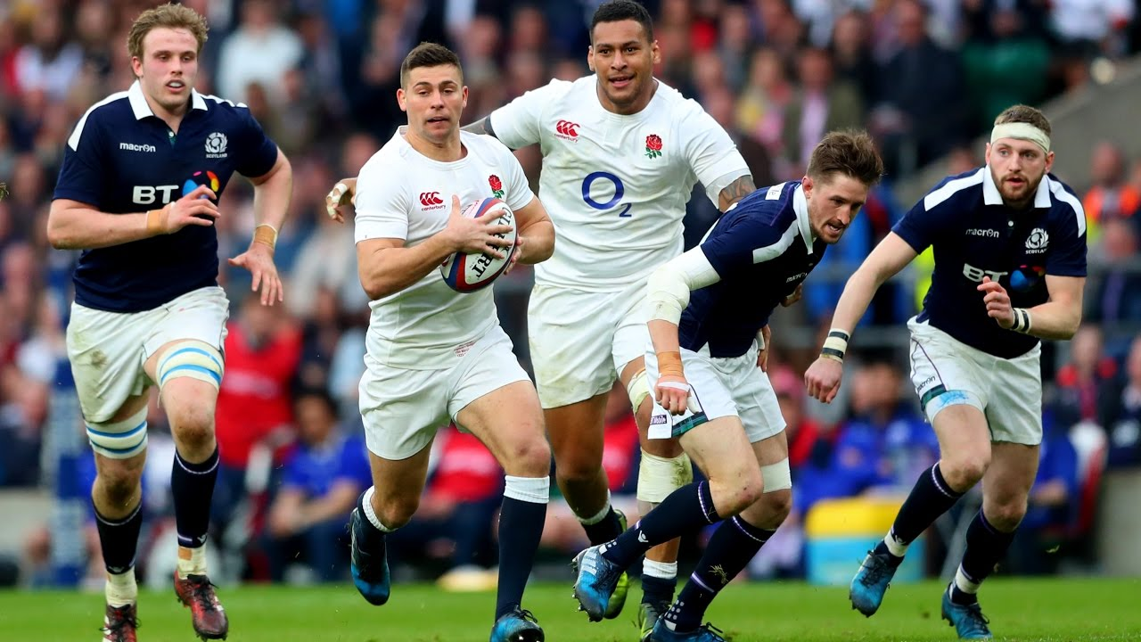 a7f0b0405d3 Official Extended Highlights: England 61-21 Scotland | RBS 6 Nations.  Guinness Six Nations
