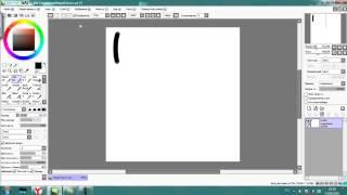 Як зробити щітку з гострим кінцем? Легко! /Paint tool sai/