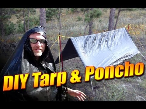 DIY Emergency Tarp and Poncho from a Garbage Bag - How to make a tarp from a garbage bag
